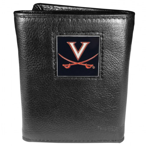 Virginia Cavaliers Deluxe Leather Tri-fold Wallet in Gift Box