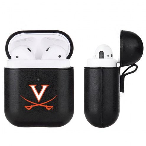 Virginia Cavaliers Fan Brander Apple Air Pods Leather Case