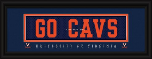 "Virginia Cavaliers ""Go Cavs"" Stitched Jersey Framed Print"