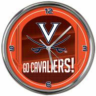 Virginia Cavaliers Go Team Chrome Clock