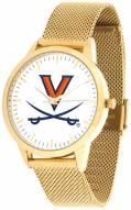 Virginia Cavaliers Gold Mesh Statement Watch