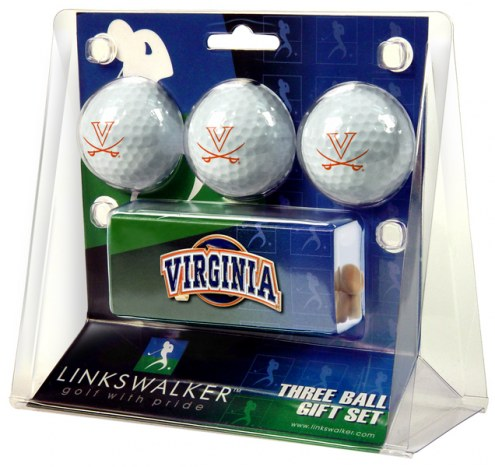 Virginia Cavaliers Golf Ball Gift Pack with Slider Clip