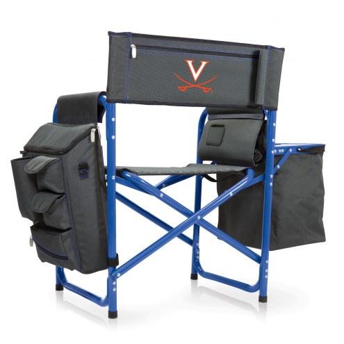 Virginia Cavaliers Gray/Blue Fusion Folding Chair
