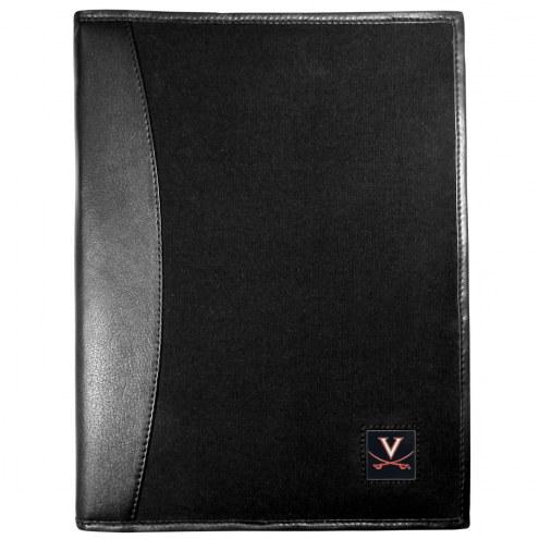Virginia Cavaliers Leather and Canvas Padfolio