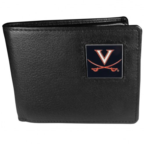 Virginia Cavaliers Leather Bi-fold Wallet in Gift Box