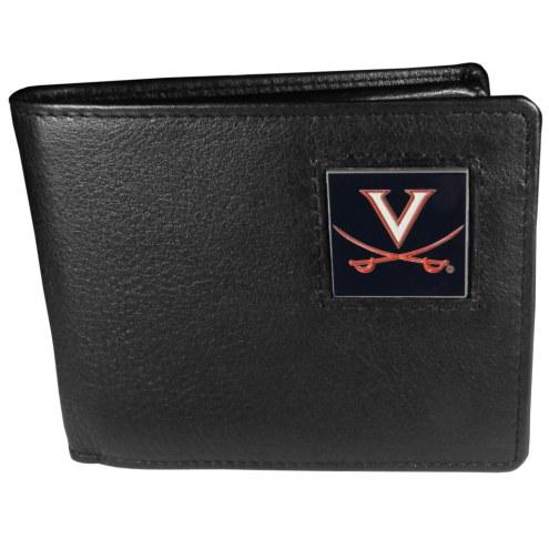 Virginia Cavaliers Leather Bi-fold Wallet in Gift Box