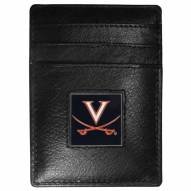 Virginia Cavaliers Leather Money Clip/Cardholder in Gift Box