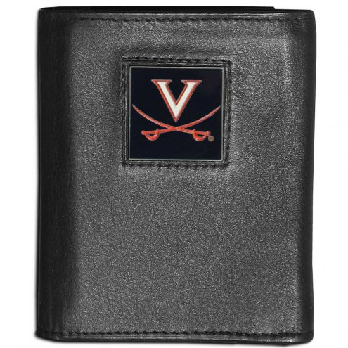 Virginia Cavaliers Leather Tri-fold Wallet