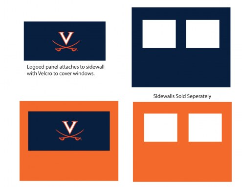 Virginia Cavaliers Logo Canopy Sidewall Panel (Attaches to Window Sidewall)