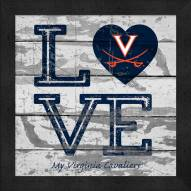 Virginia Cavaliers Love My Team Square Wall Decor