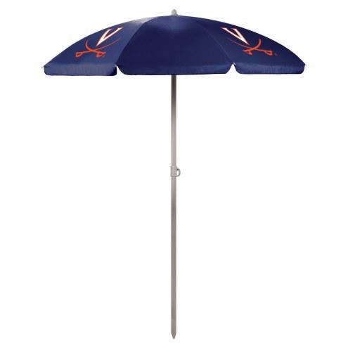 Virginia Cavaliers Navy Beach Umbrella