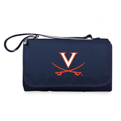 Virginia Cavaliers Navy Blanket Tote