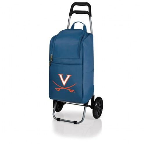 Virginia Cavaliers Navy Cart Cooler