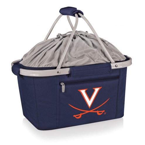 Virginia Cavaliers Navy Metro Picnic Basket