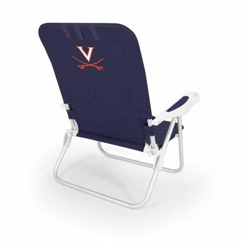 Virginia Cavaliers Navy Monaco Beach Chair