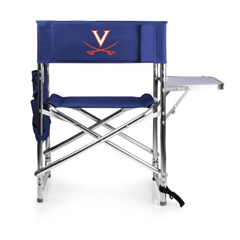 Virginia Cavaliers Navy Sports Folding Chair