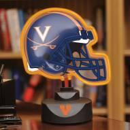 Virginia Cavaliers Neon Helmet Desk Lamp