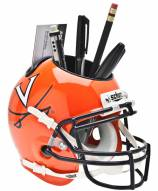 Virginia Cavaliers Orange Schutt Football Helmet Desk Caddy