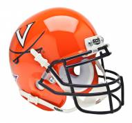 Virginia Cavaliers Orange Schutt Mini Football Helmet