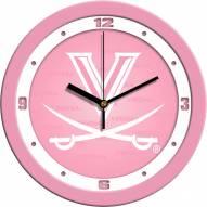 Virginia Cavaliers Pink Wall Clock