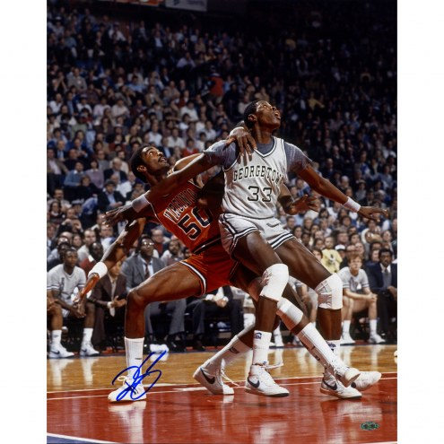 "Virginia Cavaliers Ralph Sampson vs. Patrick Ewing Signed 16"" x 20"" Photo"
