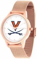 Virginia Cavaliers Rose Mesh Statement Watch