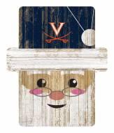 Virginia Cavaliers Santa Ornament