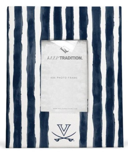 Virginia Cavaliers School Stripes Picture Frame