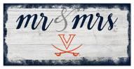 Virginia Cavaliers Script Mr. & Mrs. Sign
