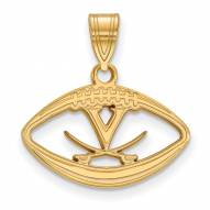 Virginia Cavaliers Sterling Silver Gold Plated Football Pendant