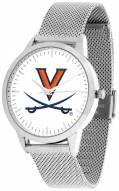 Virginia Cavaliers Silver Mesh Statement Watch