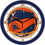 Virginia Cavaliers Slam Dunk Wall Clock