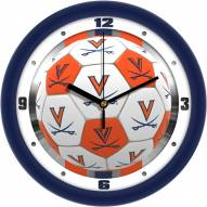 Virginia Cavaliers Soccer Wall Clock