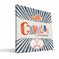 Virginia Cavaliers State Canvas Print
