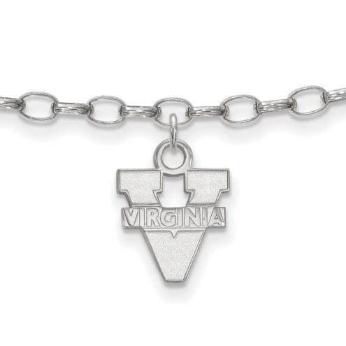 Virginia Cavaliers Sterling Silver Anklet