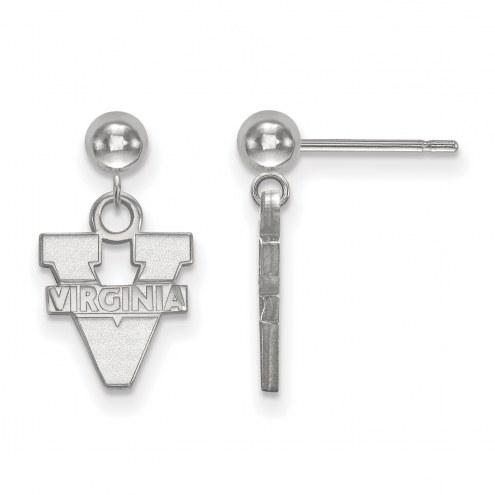Virginia Cavaliers Sterling Silver Dangle Ball Earrings