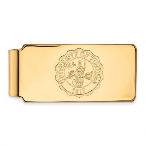 Virginia Cavaliers Sterling Silver Gold Plated Crest Money Clip