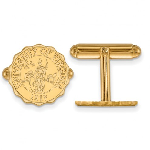 Virginia Cavaliers Sterling Silver Gold Plated Cuff Links
