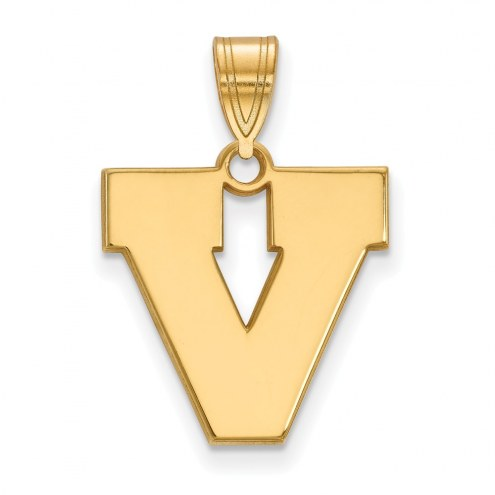 Virginia Cavaliers Sterling Silver Gold Plated Medium Pendant