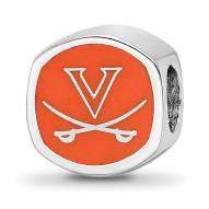 Virginia Cavaliers Sterling Silver Logo Bead