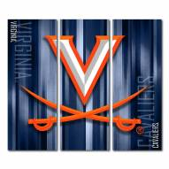 Virginia Cavaliers Triptych Rush Canvas Wall Art