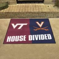 Virginia Cavaliers/Virginia Tech Hokies House Divided Mat
