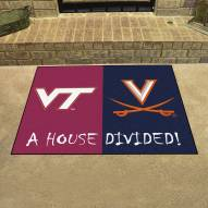 Virginia Cavaliers/Virginia Tech Hokies House Divided Mat