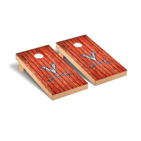 Virginia Cavaliers Weathered Cornhole Game Set