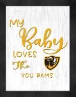 Virginia Commonwealth Rams My Baby Loves Framed Print