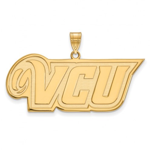 Virginia Commonwealth Rams NCAA Sterling Silver Gold Plated Large Pendant