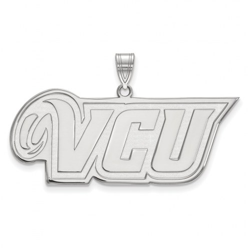 Virginia Commonwealth Rams Sterling Silver Large Pendant