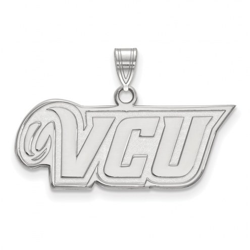 Virginia Commonwealth Rams Sterling Silver Small Pendant