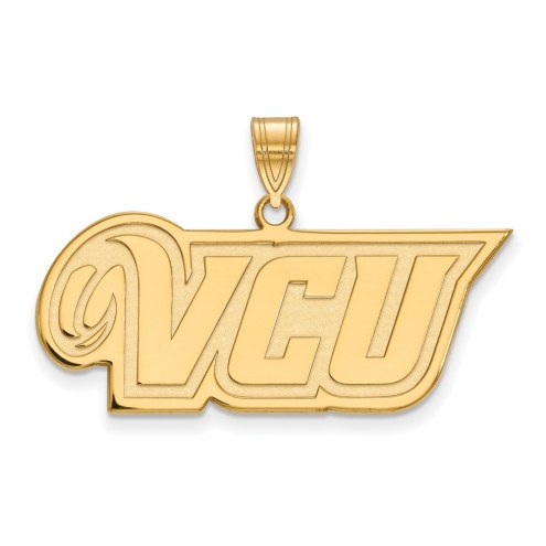 Virginia Commonwealth Rams Sterling Silver Gold Plated Medium Pendant