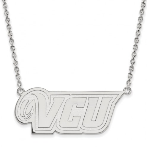 Virginia Commonwealth Rams Sterling Silver Large Pendant Necklace
